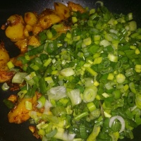 Spring Onion with baby potatoes